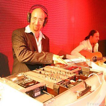 DJ LED Wand, DJ Konsole, auf Bühne