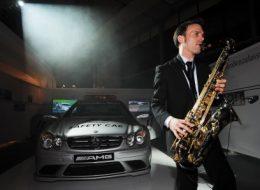 DeeJay Plus Saxophon, DJ mit Saxophon, Frankfurt, Auto, Vip, Düsseldorf, Köln, NRW, Automobil Veranstaltung
