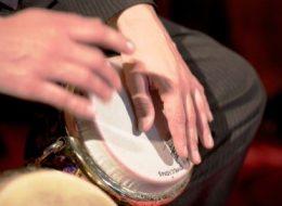 Disk Jockey mit Live Musiker, Perkussion, Betriebsfeier, Firmenveranstaltung, Produktpräsentation, Düsseldorf, Köln, NRW, Ruhrgebiet