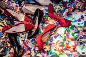 Hochzeits Schuhe, Flitter, Confetti