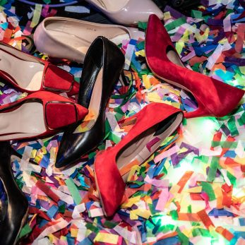 Hochzeits Schuhe, Flitter & Confetti