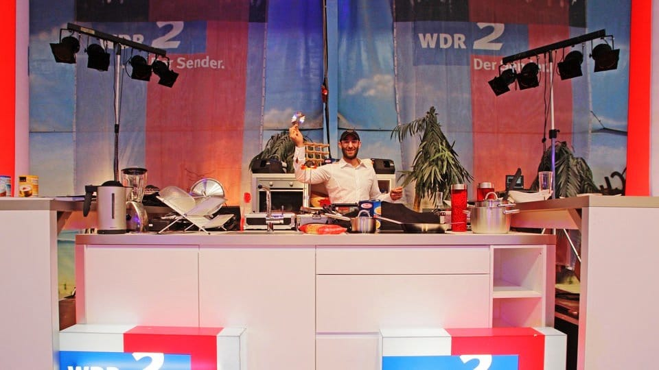Party DJ Vince im WDR 2 Studio