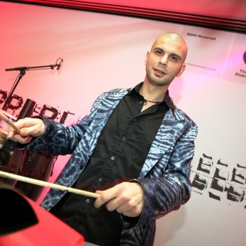 Perkussionist bei Live-Performance