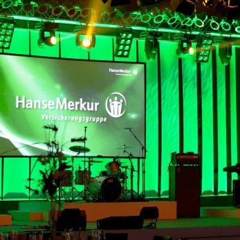Veranstaltungstechnik aufgebaut bei HANSEMERKUR-Event