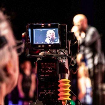 Videotechnik: Sänger in der Kamerasucher